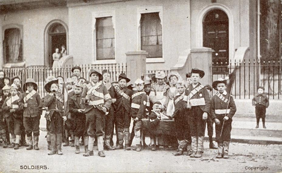 Playing Soldier circa 1907