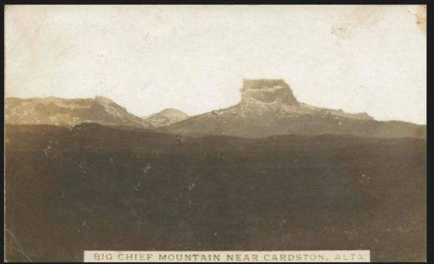 Big Chief Mountain near Cardston