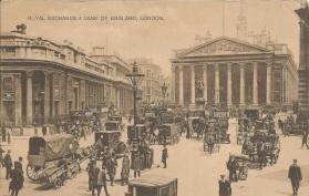 Royal Exchange And Bank of England, London