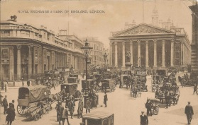 Royal Exchange And Bank of England, London