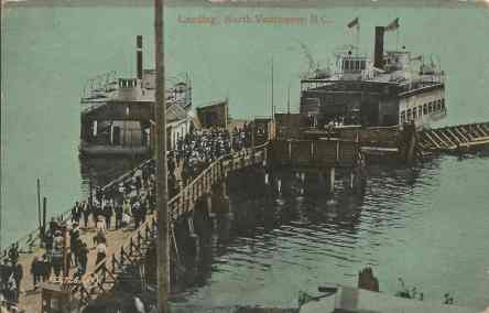 Landing North Vancouver, sent  July 10, 1910