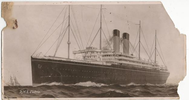 RMS Cedric postcard 1914