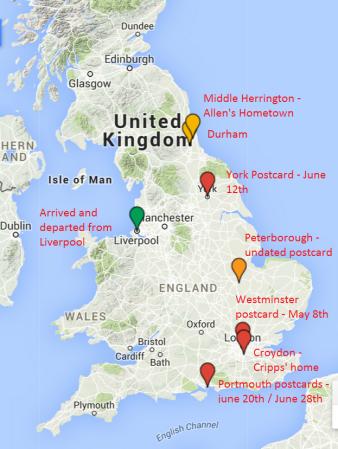 Tour of England map 1914
