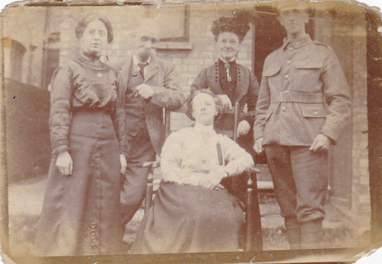 Written on the back: Mr & Mrs Cripps & family. Croydon, Surrey, England.