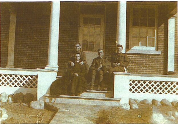 jim-allen-and-walter-cripps-on-the-steps-at-st-chads-after-enlisting