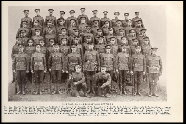 No 5 Platoon No 2 Company 28th Battalion